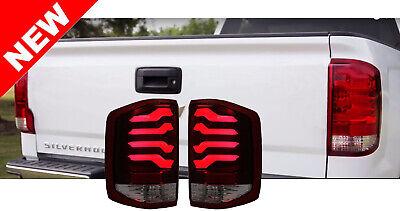 14-17 Chevy Silverado 1500 2500HD Sierra 3500HD LED Taillights - Red/Black/White