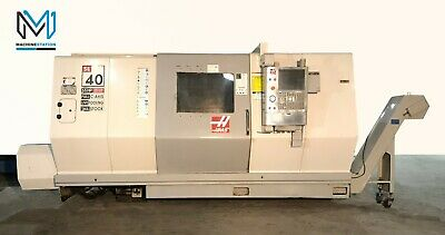 Haas Sl-40lm Cnc Turn Mill Center Long Bed Lathe 15 Chuck Tailstock - Mori St