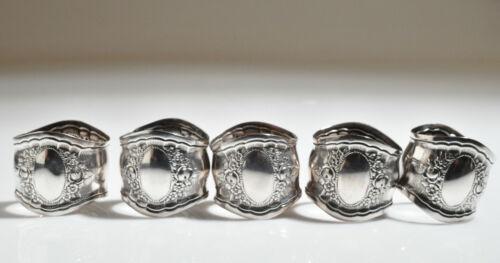 1800s VICTORIAN AEC SILVERPLATE NAPKIN RING - Set of Five- No monogram