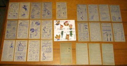 Straight Arrow Injun-Uity Large Lot ( 26 different) Nabisco 1949 &1950 W/Cut-Out