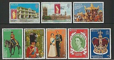 EDSROOM-6859 Belize 430-437 MNH 1978 Complete 25th Anniversary QEII Coronation