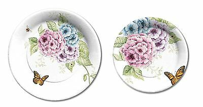 C.R. Gibson Lenox Summer Kitchen Dining Party Paper Plates - Butterfly Meadow