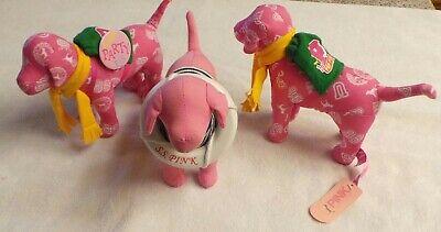 Stuffed Animals Dogs (Lot of 3 Pink Victoria's Secret Dogs Plush Stuffed Animals)