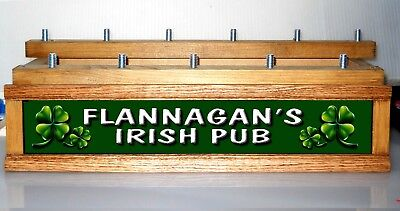 (COLOR LEDS) Lighted IRISH PUB beer tap handle display / PERSONALIZED / -