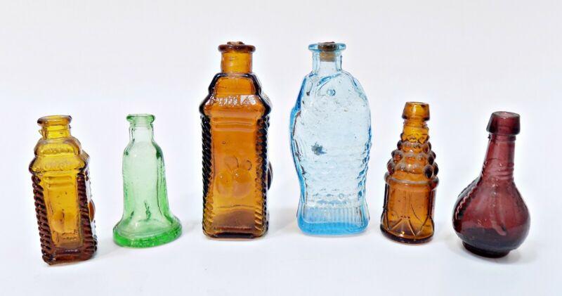 Vintage 1970 Mini Small Glass Bottles