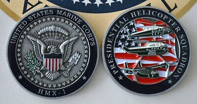 TRUMP MARINE ONE (HMX-1) PRESIDENTIAL HELICOPTER SQUADRON CHALLENGE COIN~NEW! for sale  Shipping to South Africa