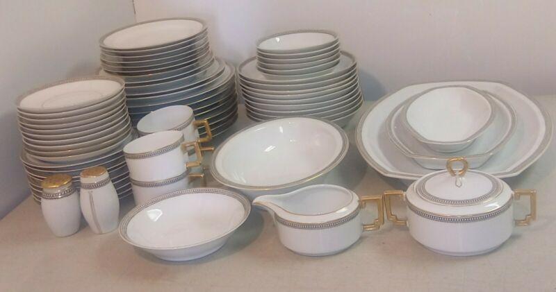 67pc Heinrich Selb Bavaria Claridge Dinnerware Set Platter Cup Bowl Plate S&P
