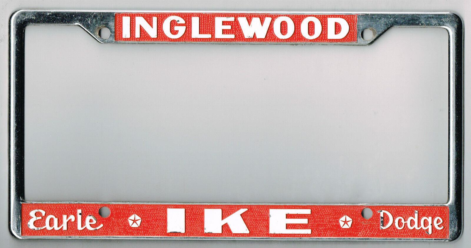 VERY RARE Inglewood California Earl Ike Dodge Vintage Dealer License ...