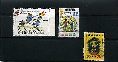 FUTBOL OF GHANA/59-   SENEGAL,>>ARGENTINA/78,-  MAURITANIA>>SPAIN/82 {3}