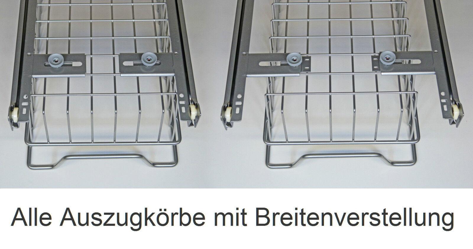 SCHRANKAUSZUG TELESKOPSCHUBLADE KORBAUSZUG Drahtkorbauszug Küche ...