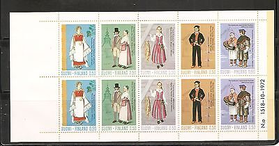 Finland SC # 522a Regional Costumes. Complete Booklet