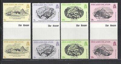PITCAIRN ISLANDS - 184-187- GUTTER PRS - MNH - 1979 - ENGRAVINGS (W/CTR IMPRINT)