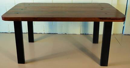 IRON AND WOOD INDUSTRIAL DINING TABLE
