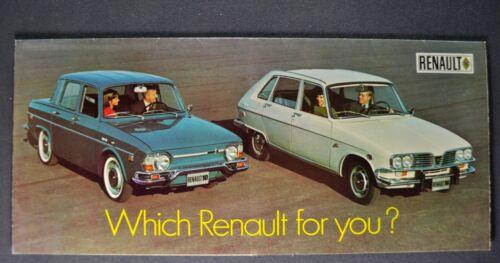 1969 Renault Sales Brochure Folder 10 16 Sedan-Wagon Excellent Original 69