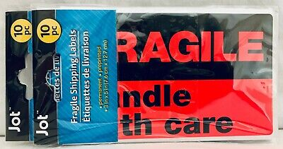 Fragile Handle With Care Shipping Labels 20 Individual 3 X 5 Large Stickers