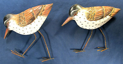 Sandpipers Hand Crafted Wood and Metal Seascape Wall Art decor