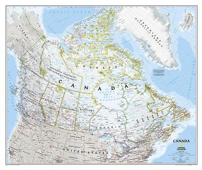 Canada Classic, laminated : Wall Maps Countries & Regions -9781597753555- NG-105
