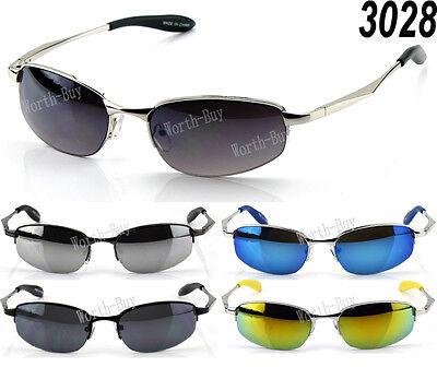 New Mens Retro Vintage Old School Metal Small Mirrored Lens 80 Sunglasses (Small Mens Sunglasses)