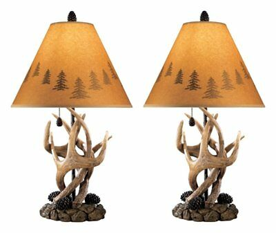 Ashley Furniture Signature Design L316984 Derek Antler Table Lamp, Set of 2 New