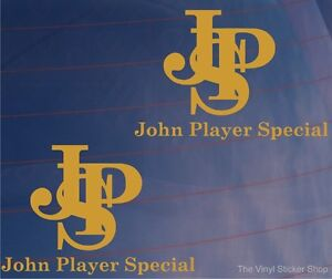 Set of Two JPS John Player Special F1/Formula One Livery Car Stickers/Decals