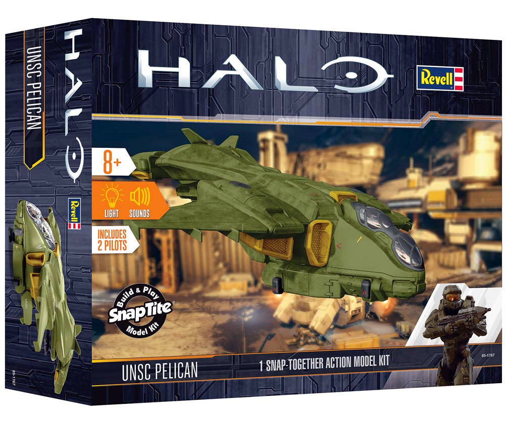 Revell HALO 1/100 UNSC Pelican SNAP-TITE PLASTIC KIT W/ Lights & Sounds USA