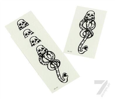Bulk Halloween Temporary Tattoos (5PCS Halloween Harry Potter Cosplay Dark Mark Death Eater Snake Temporary)