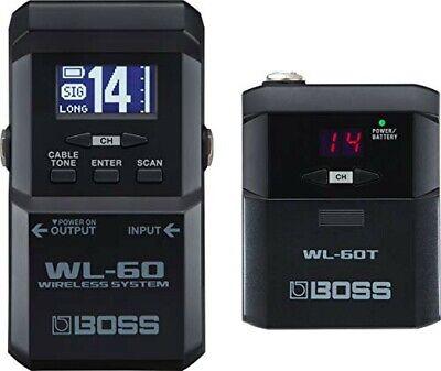 BOSS WL-60 Inalámbrico Sistema Para Guitarra Y Bajo Receptor, Transmisor Set