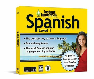 Instant Immersion Spanish Level 1  Best Software to Learn Spanish For Beginners
