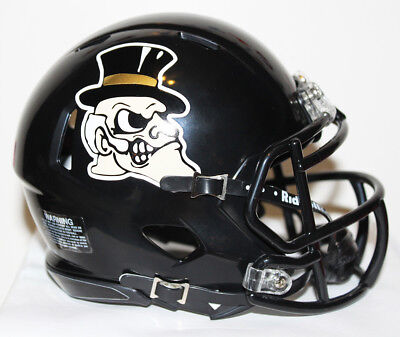 2017 Wake Forest Demon Deacons Alternate Custom Riddell Mini Helmet vs FSU
