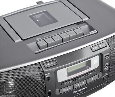 Panasonic CD / Radio / Cassette High Power Boombox w/USB Port 110/220V DUAL VOLT ()