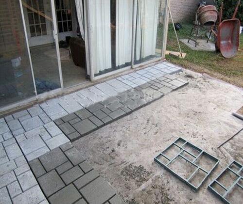 Pavage patio dalles b ton chemin jardin marche sol brique for Marche pour patio
