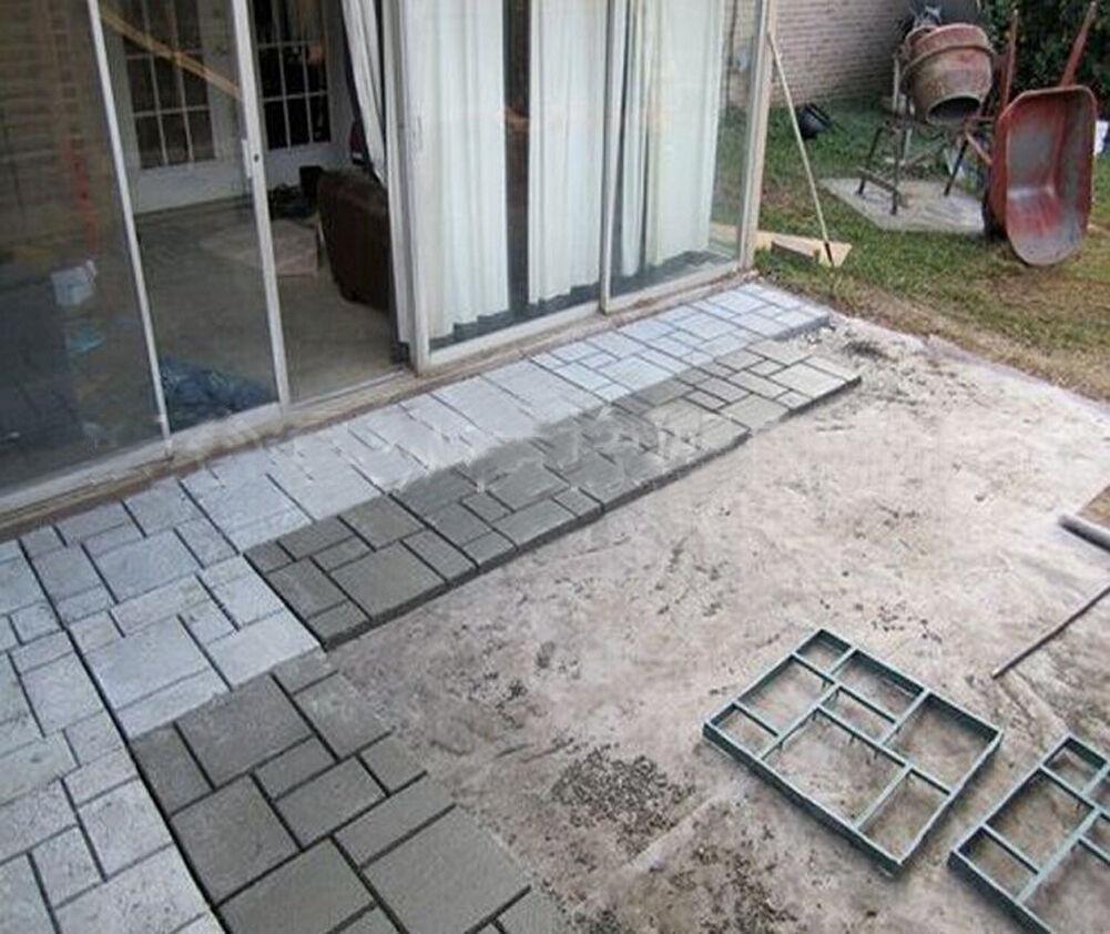 Driveway pathmate stone mold paving concrete stepping stone mould driveway pathmate stone mold paving concrete stepping stone mould pavement paver ebay solutioingenieria Gallery