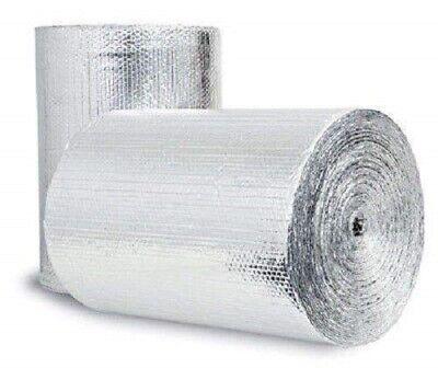 Dual Bubble Double Reflective Foil Insulation Radiant Barrier 4x25 100sqft