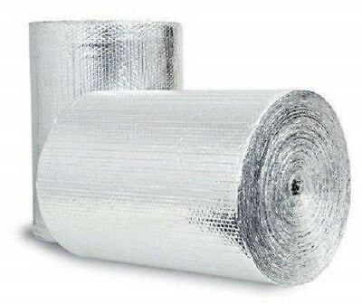 Double Bubble Reflective Foil Insulation 48in X 10ft Roll Industrial Strength R8