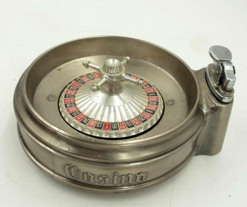 VINTAGE CASINO ROULETTE SHAPED LIGHTER  SCARCE MADE IN JAPAN