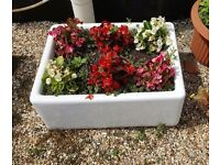 6 X GENUINE ANTIQUE VICTORIAN BUTLERS/BELFAST SINKS GARDEN PLANTERS LOOK GREAT AS A GARDEN FEATURE