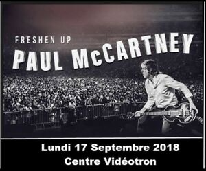 Billets Paul McCartney Centre Vidéotron Quebec