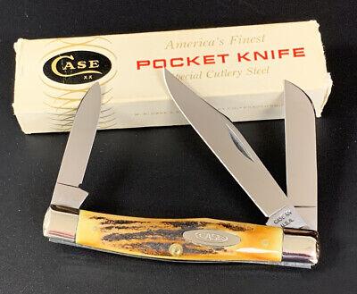 CASE XX POCKET KNIFE 5332 USA, 1965-1969, NICE STAG MEDIUM STOCKMAN NEAR MINT