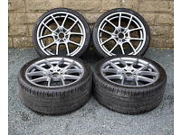 """20"""" Genuine BMW 5 Series F10 Alloy wheels and tyres 5x120 F11 6 series F12 F13"""