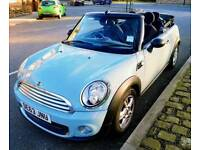 Baby Blue Mini One soft-top convertible