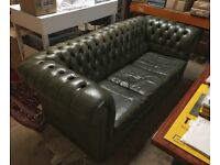 Green Chesterfield Sofa - restoration project