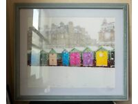 Large Wooden Framed Beach Huts in the Snow Photograph