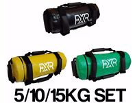 SET OF 5/10/15kg FXR FILLED WEIGHTED POWER BAGS