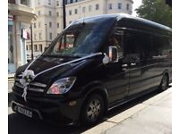 Wedding Car Hire/ 12 seater Lux Coach/ London