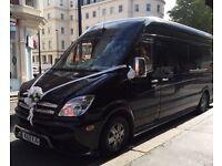 Wedding Car Hire/ 12 seater Lux Coach/ London