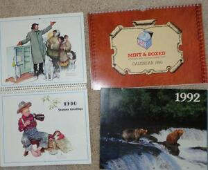 Antique Norman Rockwell Photo's Mint & Boxed Toy Trains calendar
