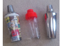 Cocktail shakers x 3 (£15 for the lot)