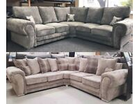 EXPRESS DELIVERY! LARGE CHESTERFIELD ARM CORNER/3+2 SEATER SOFA   FINANCE AVAILABLE   SWIVEL CHAIR