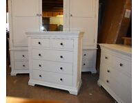 CHANTILLY WHITE 2+3 Drawer Chest