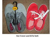 canvas shoes size 4 never used
